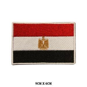 EGYPT-National-Flag-Embroidered-Patch-Iron-on-Sew-On-Badge-For-Clothes-etc