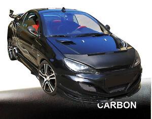 Haubenbra-Peugeot-206-Steinschlagschutz-Car-Bra-Tuning-amp-Styling-CARBON