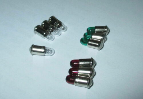 Farbe nach Wahl  10 Stück   NEU 19V Ersatzlampen MS4 rot,grün,klar
