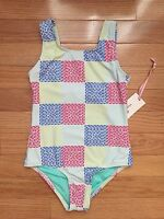 Vineyard Vines Girl's Patchwork One Piece Coral Sand Tank Swimsuit $55 (10m)