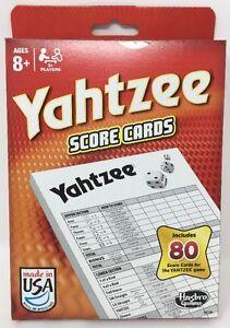 Hasbro-Gaming-Yahtzee-Score-Cards-BRAND-NEW-80-Score-Card-Pack
