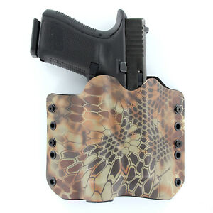 OWB Kydex Holster for 50 Hanguns with STREAMLIGHT TLR-4 USA STEALTH BLACK