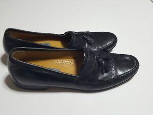 980b2417c30 Johnston Murphy Loafers Mens Moc Toe Tassel Kiltie Black Leather ...