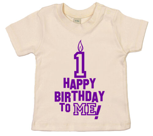"Primo Compleanno T-Shirt /"" Happy Birthday To Me /"" 1st 1 Year Old Festa Vestiti"