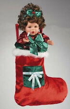 "MARIE OSMOND 2006 ""MERRY KISSES STOCKING DOLL GIRL"" 12-INCH PORCELAIN DOLL"