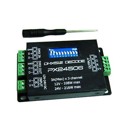 PX24506 Decoder Driver DMX 512 9A DMX 512 Amplifier 12V 24V RGB LED Lights