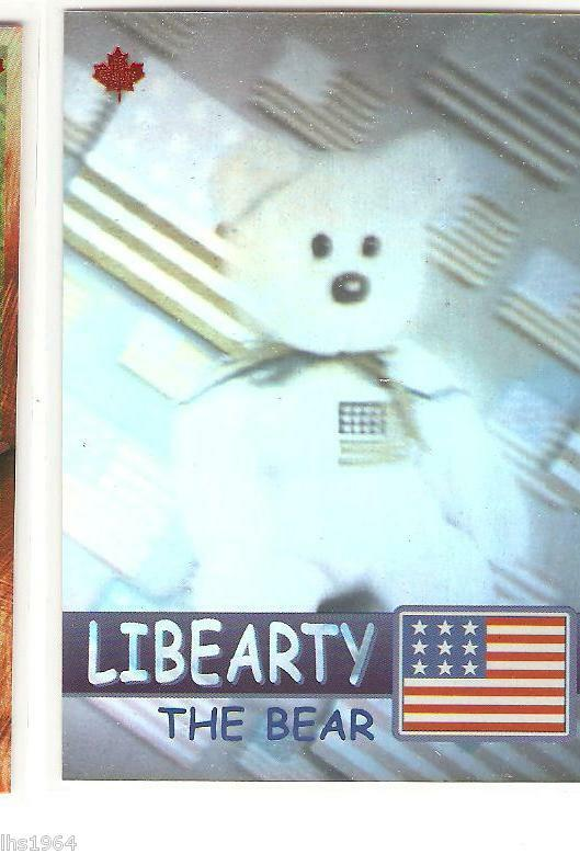 Ty Ty Ty S2 Beanie Card RARE BEAR LIBEARTY 396 831 CANADIAN VERY LOW NUMBER MADE b3971f