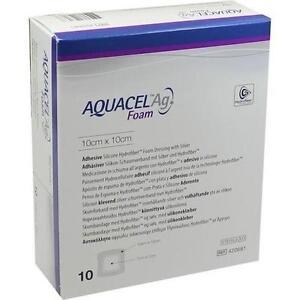 AQUACEL-Ag-Foam-adhaesiv-10x10-cm-Verband-10-St