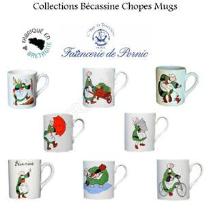 Chope Mugs Becassine Faiencerie de Pornic Bretagne France