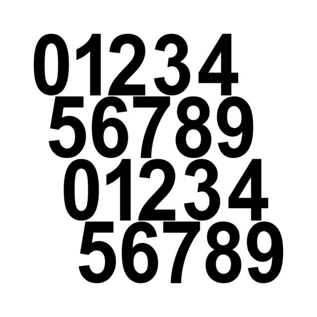 20 Digit Height 2cm Black Numbers Room House RC Numbers Sticker Tattoo Film