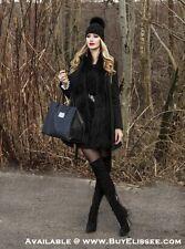 Boutique Real Fox Fur Detach PomPom Braided Knitted Wool Hat / Beanie * $89 NWT