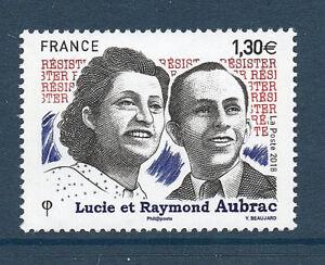 TIMBRES-5219-NEUF-XX-LUXE-LUCIE-ET-RAYMOND-AUBRAC-RESISTANTS-DE-GUERRE