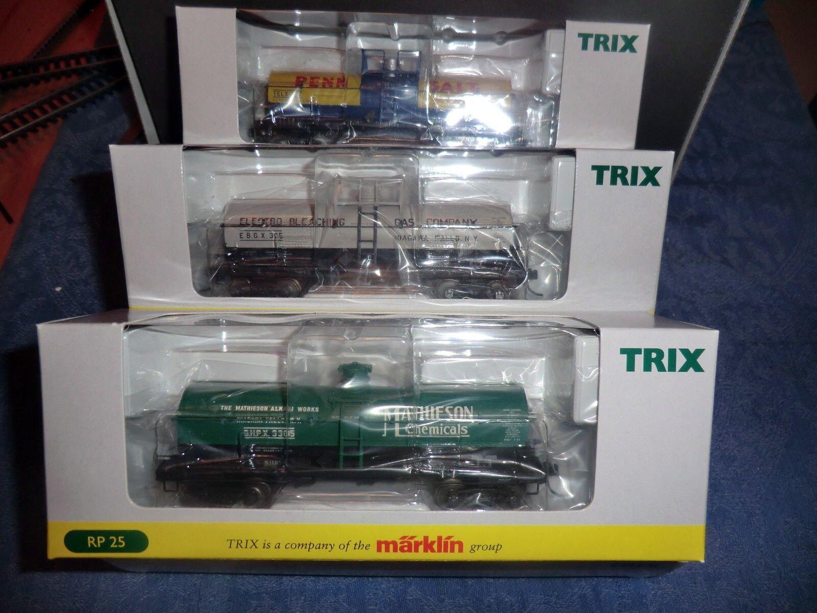 Trix 24908 US-Caldaia Carrello-Set 3 SERBATOIO CARS OVP DC tabulazione