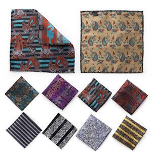 Paisley Floral Party Hanky Pocket Towel Handkerchief Men/'s Pocket Square