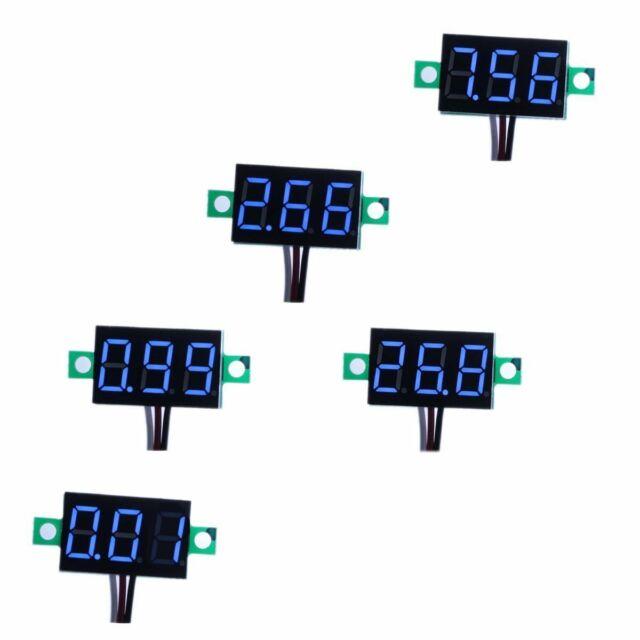 """5pcs Blue 0.36/"""" DC 0-30V LED Display Digital Voltage Voltmeter Panel Car Motorc"""