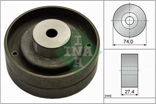Umlenk-/Führungsrolle, Zahnriemen für Riementrieb INA 532 0051 10