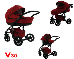 Passeggino-trio-VALERO-3-in-1-Rosso-V30