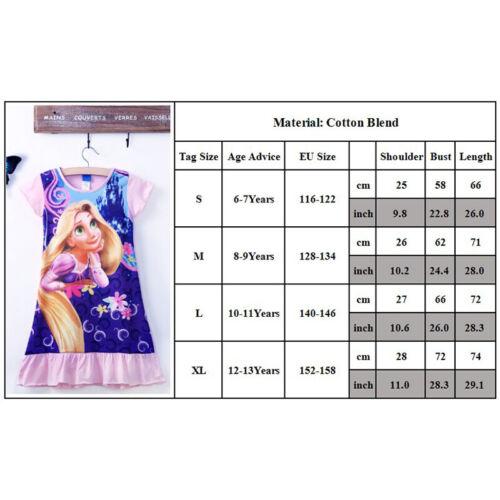 Mädchen Kinder Nachtwäsche Schlafanzug Sommer Freizeitkleider Prinzessin Kleid