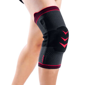 bb895eea8e Image is loading Kuangmi-Knee-Compression-Sleeve-Brace -Cramp-Prevention-Patella-