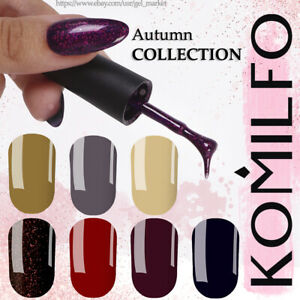 KOMILFO-Autumn-COLLECTION-Gel-Nail-Polish-8ml-Burgundy-Brown-Gray-Blue