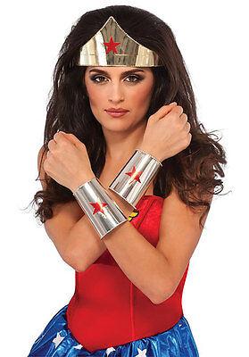 Polished Steel Metal Wonder Woman Tiara /& Cuffs Dc Comics Justice League Cosplay
