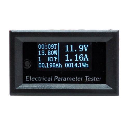 1pcs 7in1 OLED DC 100V 10A Mini Digital Current Power Energy Watt Meter Ammeter