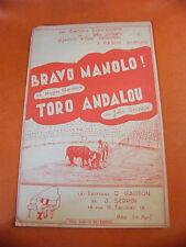 Partition Bravo Manolo Roger Gaudon Toro Andalou John Sedrov Pasos dobles