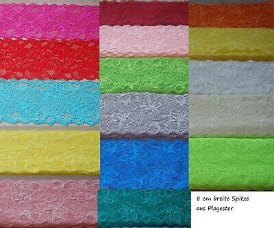 Spitzenband Spitzenborte 14 mm breit 15 Farben Spitze Polyester 9,14m 10 Yards