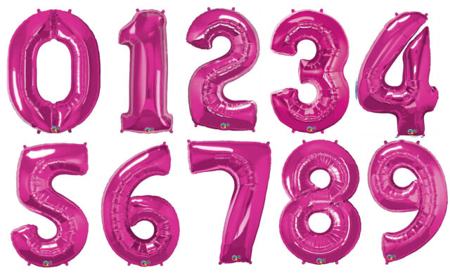 Supershape 34 inch Number 7 Gold Helium Balloon 7th Birthday