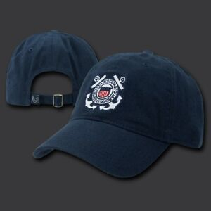 e8093968ed10b Image is loading COAST-GUARD-VINTAGE-LOOK-WASHED-COTTON-BLUE-EMBROIDERED-