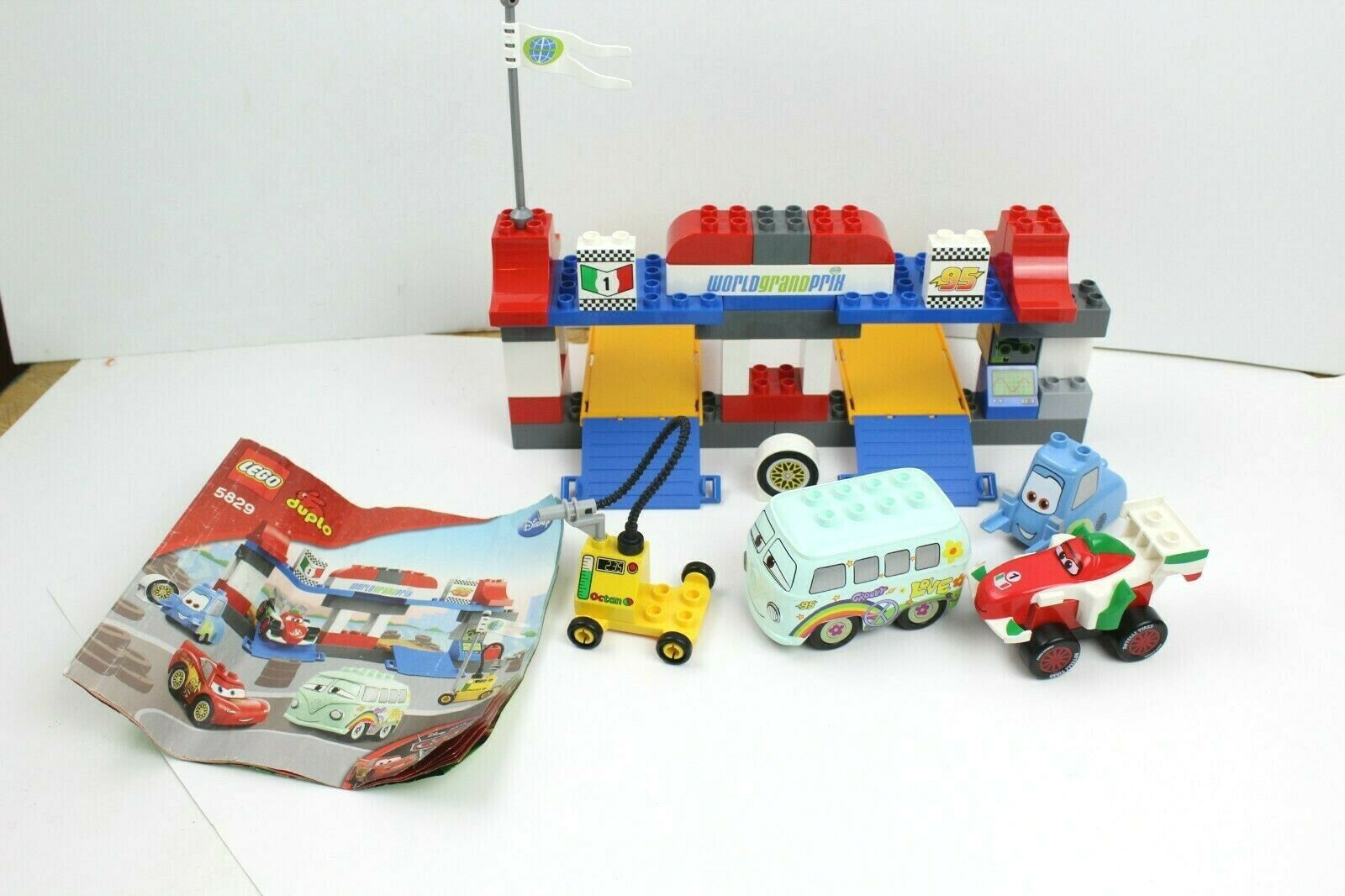 Lego Duplo 5829 The Pit Stop Disney Cars For Sale Online Ebay