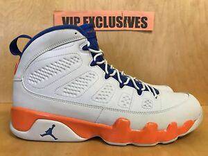 8566bd4ee277 NIKE AIR JORDAN RETRO 9 IX FONTAY MONTANA white royal blue orange ...