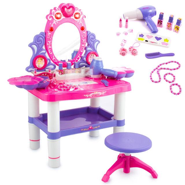 Schminktisch Kinder Frisiertisch Hocker Licht Sound Schönheitsstudio Spieltisch