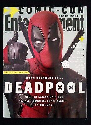 SDCC Entertainment Weekly Bonus Issue DEADPOOL San Diego Comic Con Ryan Reynolds