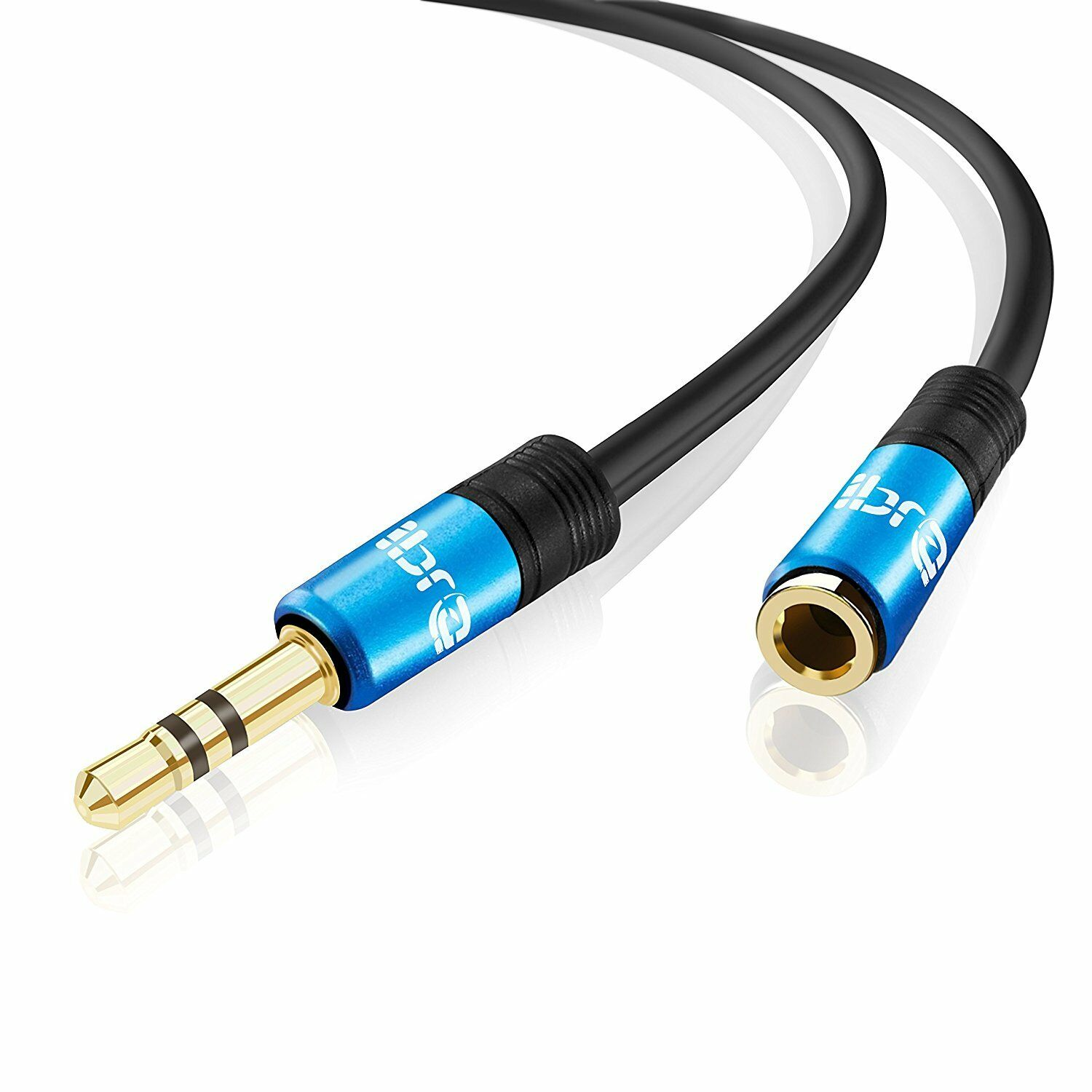 IBRA® 10m Stereo Jack Extension Cable 3.5mm Male > 3.5mm Female - Blue