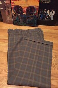 Vintage 1970\u2019s Plaid Slacks Pants Farah Talon ZipperFly 38x32