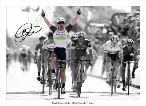 MARK CAVENDISH SIGNED PRINT POSTER PHOTO AUTOGRAPH 2016 TOUR DE FRANCE CYCLING