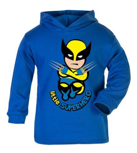 6yrs Cotton Gift Top Hoodie Wolverine Wolvie  Superhero Boys Girls Baby 0mth