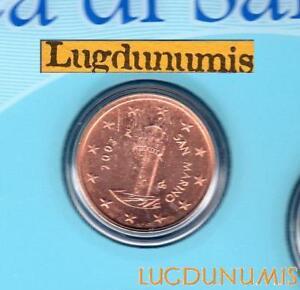 Saint Marin 2003 1 Centimes D'Euro BU FDC 70 000 exemplaires Provenant du BU RAR