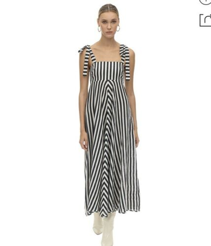 Zimmerman Honour Sleeveless Linen Chevron Maxi Dre