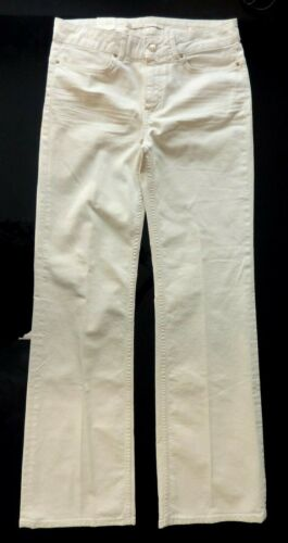 Womens Zara Jeans Denim Cream Wide Leg Woman Size UK 6 8 Premium Cotton £39.99