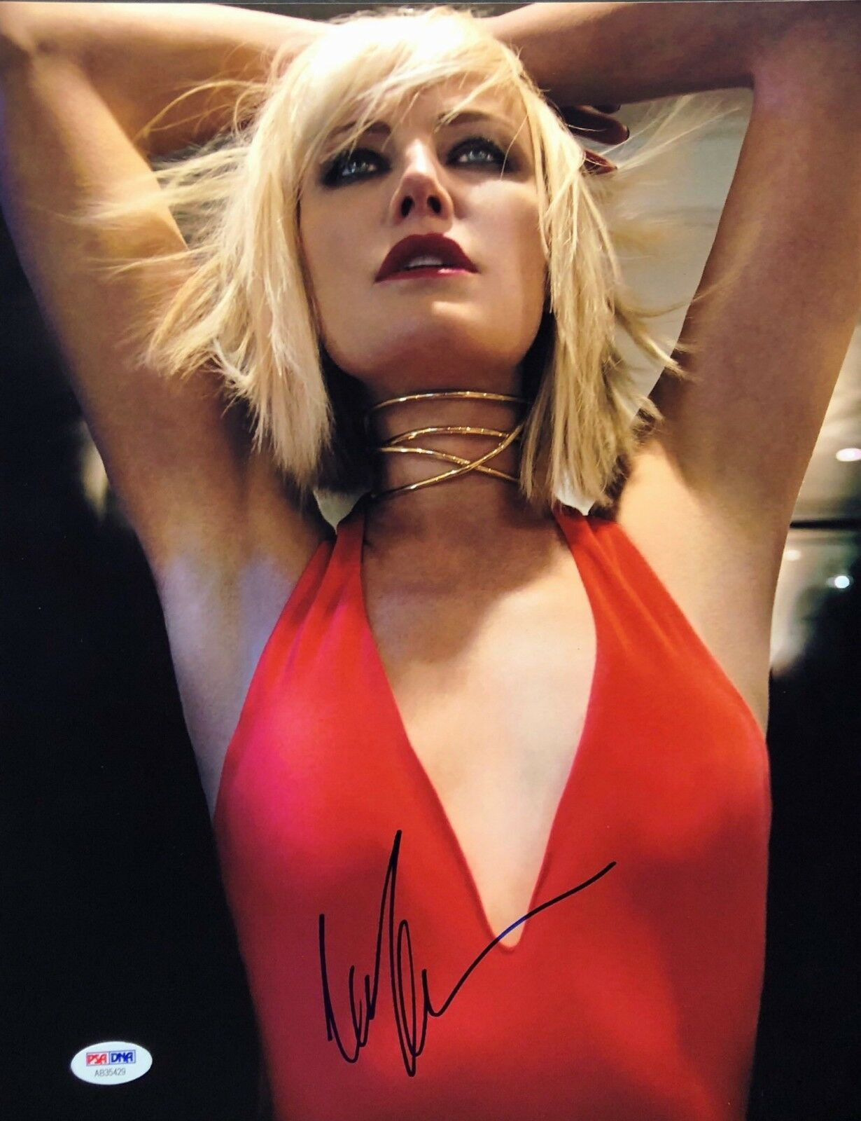 Malin Akerman Signed 11x14 Photo *Watchmen *Silk Spectra *Actress *Model PSA