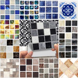 18pcs-Mosaico-Adesivo-Bagno-Cucina-Parete-Adesivo-piastrelle-del-pavimento-SCALA-10x10