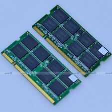 Kit 2GB 2x1GB PC2700 DDR333 333Mhz 200pin DDR SODIMM Laptop Memory 2G Module NEW