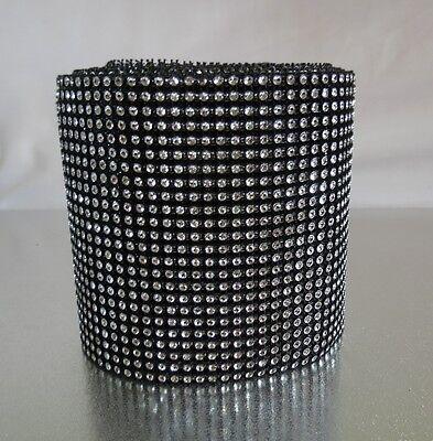 Multi colour diamante diamond Rhinestone Mesh Ribbon Cake Craft Crystal Wrap