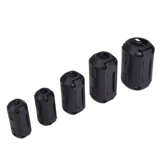 10 Ring Core Ferrite Bead Clamp Choke Coil RFI EMI Noise Filter Clip Snap 3mm for sale online