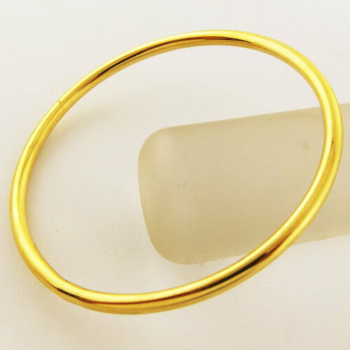 Bangle Bracelet Cuff Genuine Real 18k Yellow G//F Gold Solid Girls Kid Size 40mm