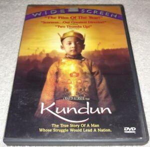 Kundun-DVD-1998-Widescreen-Tenzin-Thuthob-Tsarong-RARE-oop