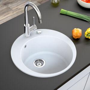 Dettagli su BERGSTROEM Lavello della cucina in granito lavello della cucina  505 bianco