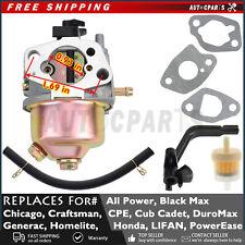 Carburetor For Chicago 7hp 30503500w Electric Generator Portable Generator